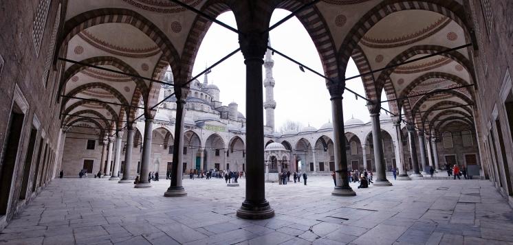 blaue moschee panorama